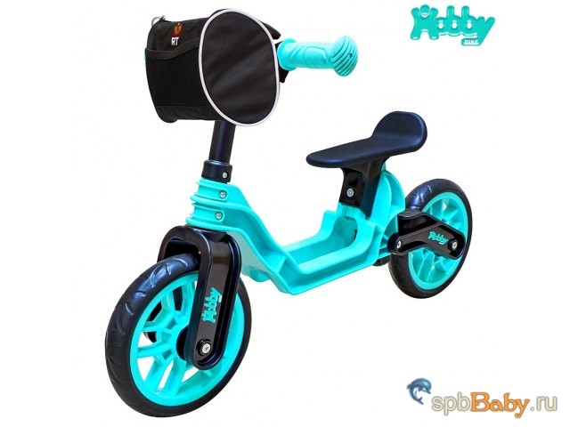 ОР503 Беговел Hobby bike Magestic aqua black
