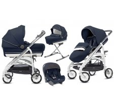 Коляска Inglesina Trilogy Plus System Quattro 4 в 1 на шасси Trilogy Plus Chrome White (AA33K6LPA + AE36K3200) Lipari